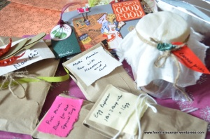 Goodies from Vaishali's gift bag