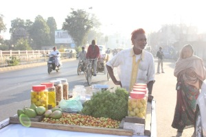 The spice vendor with fresh fennel