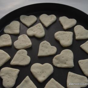 Mini Heart Pizza
